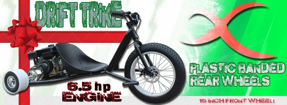 Rotating scooter and go kart banner