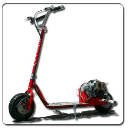 red gas scooter x